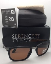 FOLDING SERENGETI PHOTOCHROMIC Sunglasses VOLARE 8494 PRT Black Frame w/... - $299.95