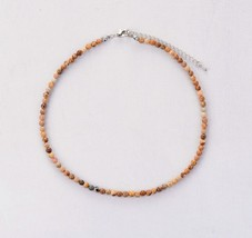 Women Chokers 4MM Natural Stone Choker Necklace 2018 Womens Simple Colla... - $13.18
