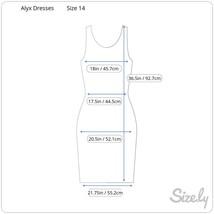 Alxy Dress, Black and White, Sleeveless, Size 14 image 2