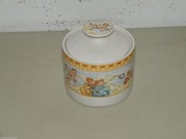 Fitz & Floyd CHERUB Habitat Americana Omnibus Sugar Bowl w/ Lid 16989 - $19.12