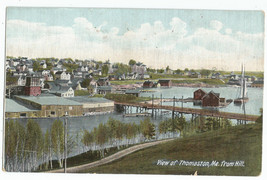 Thomaston ME Maine Birdseye View from Hill UDB Vintage Postcard - $5.95