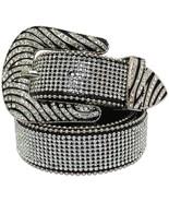 Western Rhinestone Cowgirl Studded Crystal Leather Zebra Stripe Leather ... - $32.95