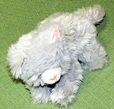 "10"" GUND GRAY CAT Plush Kitten Pink Black Ribbon Long Stuffed Animal Rea... - $23.38"