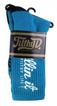 Filthy Dripped Killin' It Sock Black Or Teal Filthy D Contrast O/S Crew Socks image 6