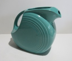 Fiesta Disk Pitcher Turquoise Blue New circa 1988 to present - $19.00