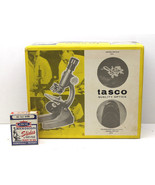 Tasco Microscope Kit #970-5 Zoom Scout 750 Power Nice Vintage Case Quali... - $46.74