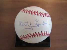 Whitey Ford 1961 Ws Mvp Yankees Hof Pitcher Signed Auto Baseball Tristar & Mlb - $118.79