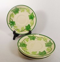 """Franciscan Ivy Set of Four 6 1/4"""" Replacement Saucers Green Trim USA VGC - $16.99"""