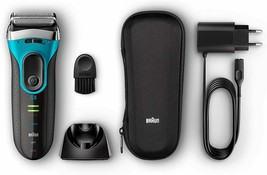 Braun Series 3 3040s Proskin Cleaners Shaver Wireless - Blue - $237.40