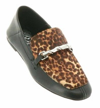 Vince Camuto Perenna Leather Loafer Black Natural 5.5 NEW 655-396 - $34.63