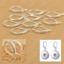 925 Sterling Silver Beadings Findings Earring Hooks Leverback Handmade 1... - $6.97