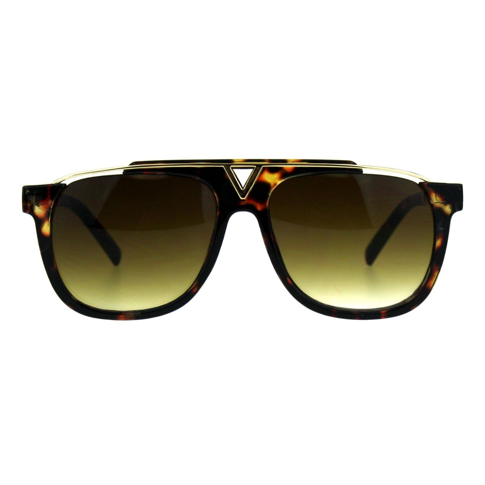 Retro Modern Sunglasses Unisex Fashion Del Metal Top Square Frame UV 400
