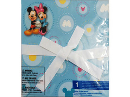"Disney Micky & Minnie 6x6"" Decorative Accordion Photo Album w/Ribbon Closure"