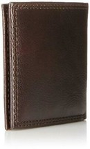 Tommy Hilfiger Men's Premium Leather Wallet Double Billfold Chocolate 31TL13X051 image 2