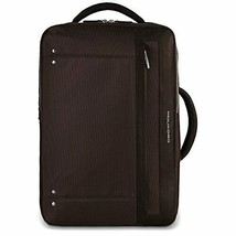 Piquadro Computer Portfolio Briefcase with Shoulder Pads, Dark Brown Lea... - $89.09
