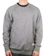 Crooks & Castles Mens Speckle Charcoal Grey Puttin in Work Crew Neck Sweater NWT