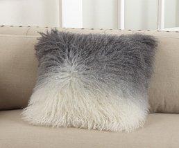 "Fennco Styles Ombr Genuine Lamb Throw Pillow - 16""x16"" - $108.89"