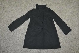 LNC-Girls Gap Kids Black Wool Cashmere Blend Lined Peacoat Jacket-size 14/16 - $54.45