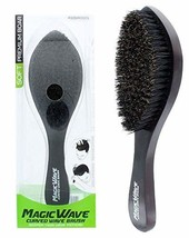 Black Ice Magic Wave Curved Wave Brush Soft Premium Boar