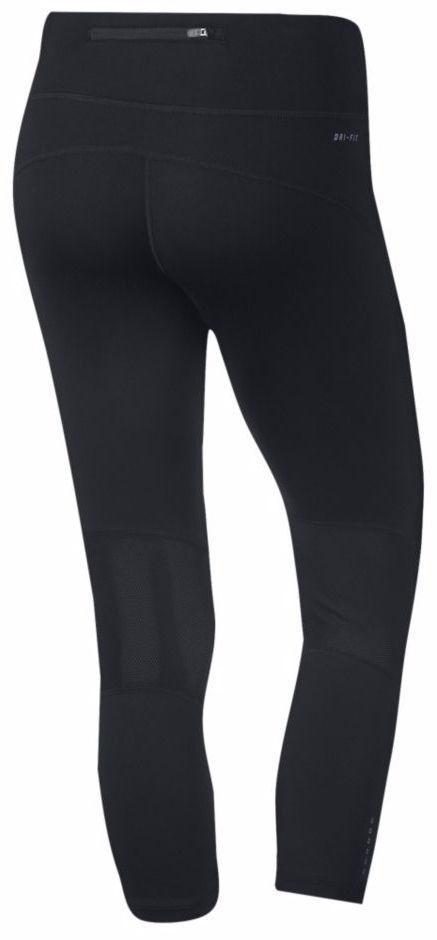 c6d6180e4c1652 Nike Running DRI-FIT Capri Womens XS Leggings Workout Pants 749457 BLACK  BLUE