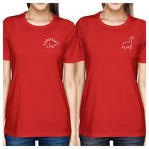 Dinosaurs BFF Matching Red Shirts - $30.99+