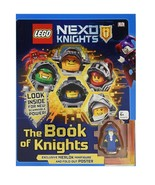 ORIGINAL Vintage 2016 Lego Nexo Knights Hardcover Book of Knights + Figu... - $19.79