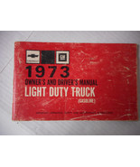 1973 Chevrolet Light Duty Truck Owner's and Driver's Manual Gasoline - $11.00