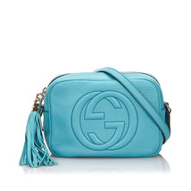 Pre-Loved Gucci Blue Light Others Leather Soho Disco Crossbody Bag Italy - $946.96