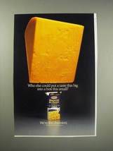 1990 Kraft Macaroni & Cheese Dinner Ad - Who else could put a taste this big  - $14.99