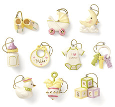 Lenox Baby Memories 10 Piece Mini Tree Ornaments NEW (No Tree) - $154.90