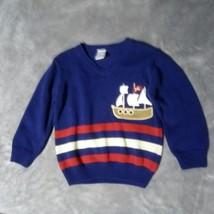 Gymboree Boys Sweater 100% Cotton Prirate Boat Theme Size 2T - $6.73