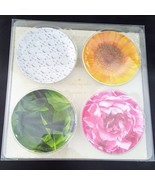kate spade New York Patio Floral Melamine Coasters Nibbles Plates Set of... - $23.99