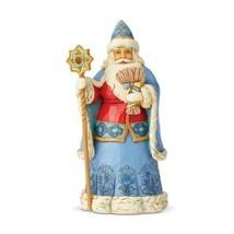"Jim Shore Ukrainian Santa Around the World Collection 7"" High Christmas Figurine image 1"