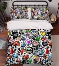 3D Dense Pattern Bed Pillowcases Quilt Duvet Cover Set Single Queen King Size AU - $90.04+
