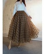 Full Long Tulle Skirt High Waisted Polka Dot Tulle Skirt Outfit Plus Siz... - $79.99+