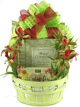 In Remembrance, Sympathy Gift Basket with Book and Comfort Snacks For Those Grie