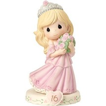 Precious Moments 162015  Growing In Grace, Age 16, Bisque Porcelain Figu... - $60.51
