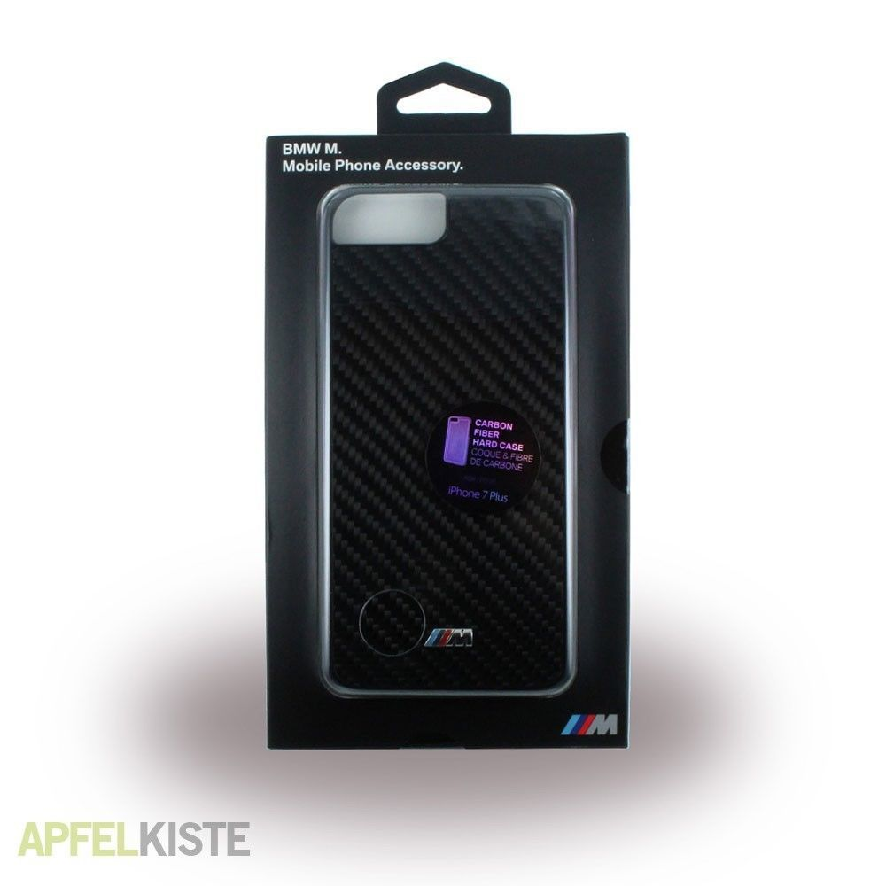 BMW M Carbon Fiber Hard Case - Carbon Designer case for iPhone 7,8 Plus (Black)