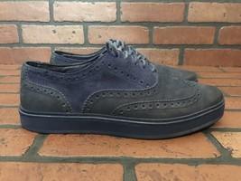 Cole Haan Men's Bergen Wingtip Sneakers Navy Blue Size 7.5W - $39.04