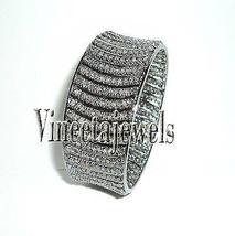 Gorgeous Vintage Look Sterling Silver Rose Cut Diamond  Antique Bracelet... - $850.19
