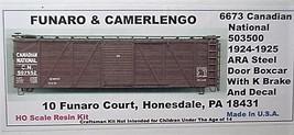 Funaro & Camerlengo HO CN 50350 1924-1925 ARA steel door Boxcar Kit 6673  image 1