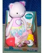 B Toys Tippy Toes Cali Cat Tea Set & Book Playset New - $22.88