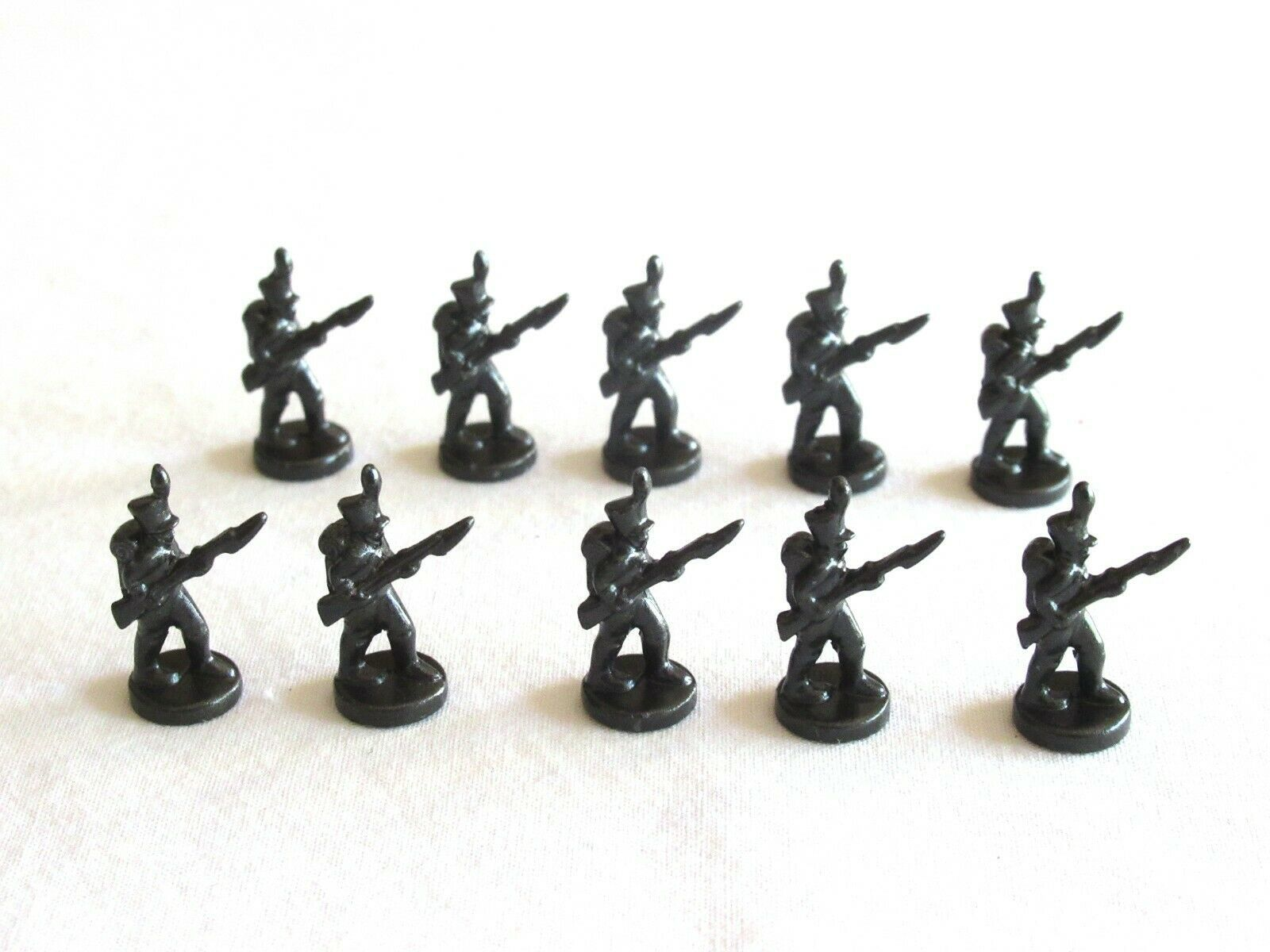 Primary image for 10x Risk 40th Anniversary Edition Board Game Metal Soldier Infantry Black Army