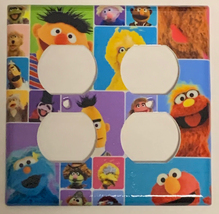 Sesame Street Friend Block Light Switch Power Outlet wall Cover Plate Home decor image 5