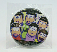 Osomatsu San Round Tin Metal Badge FA/O Japanese Anime Fujio Akatsuka 6.... - $14.39