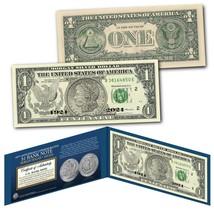 Authentic $1 Bill commemorates 100th Anniversary final MORGAN DOLLAR Sil... - $13.98