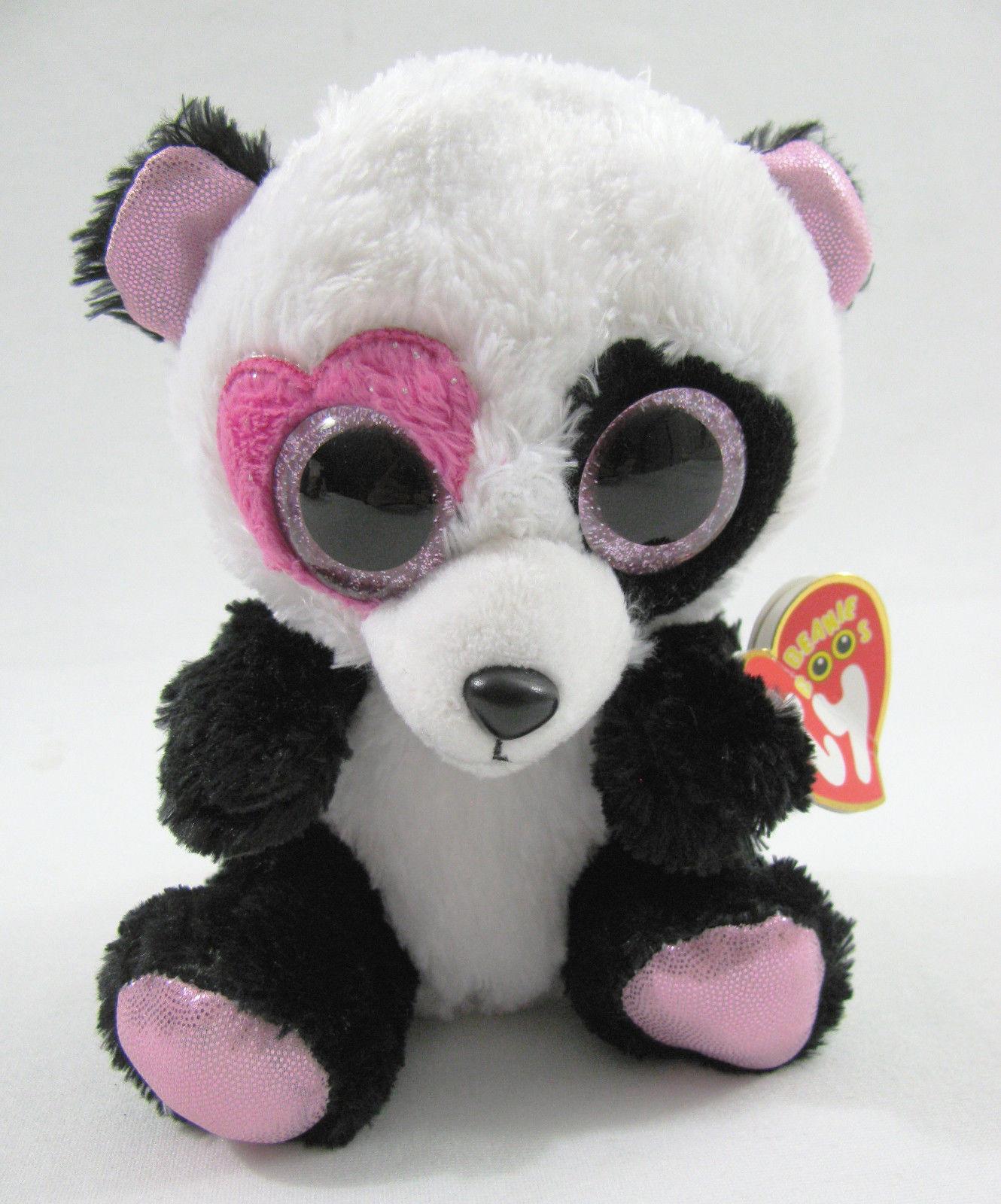 2e5cad38036 57. 57. Previous. TY Beanie Boos MANDY Valentine Panda Bear 6