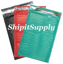 3-600 #000 4x8 ( Black Red & Teal ) Combo Poly Color Bubble Padded Mailers - $3.46+
