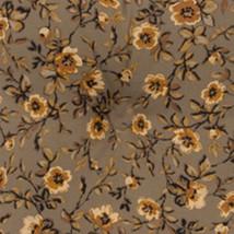 Longaberger TV Time Basket Khaki Floral Fabric Over Edge Liner Only New - $7.87