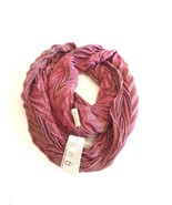 Collection XIIX Syrah Chevron Pattern Infinity Scarf, Currant/ Gold - $12.13